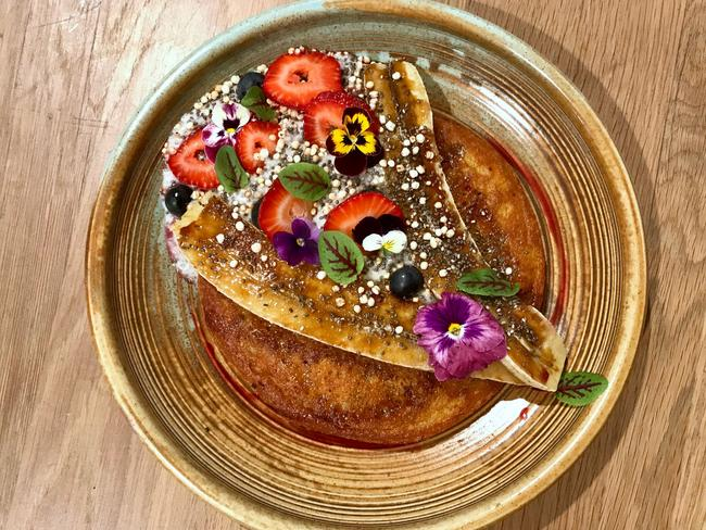 The focus is on wellness at The Well. Tuck into these sweet potato pancakes. They're healthy, we promise. Picture: Jenifer Jagielski
