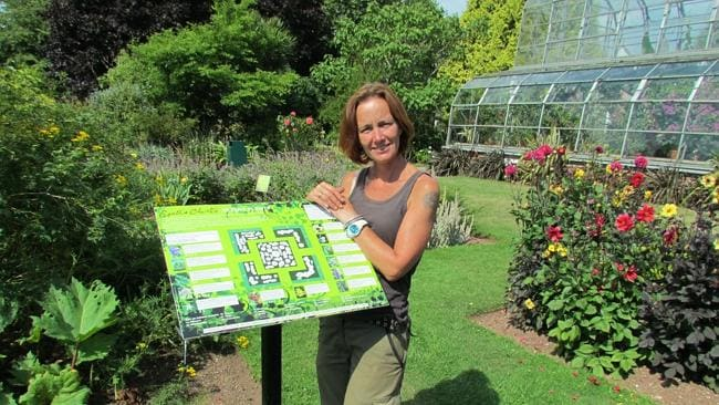 Ali Marshall in the Agatha Christie Potent Plants Garden. Picture: Supplied