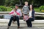 <p>Their Royal Highnesses Crown Prince Frederik and Crown Princess Mary of Denmark with their children Prince Christian and Princes Isabella, in the gardens of Government House, Sydney. The family are in Australia for a private vacation. Pic: Amos Aikman</p>
