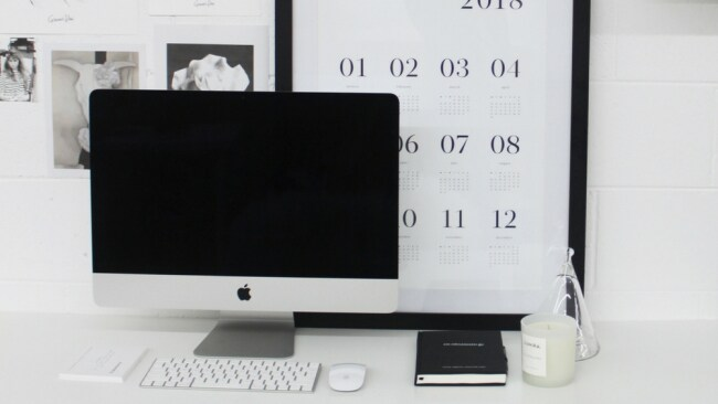 A glimpse into Beck's organised workspace. Photo: Supplied
