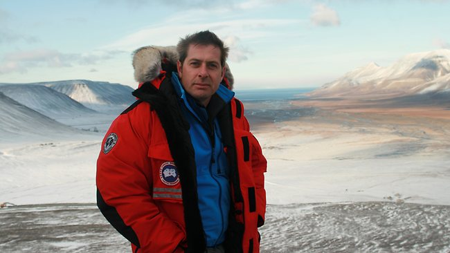 Professor Iain Stewart in Svalbard, Arctic Norway, during the filming of his series How Earth Made Us. Picture: BBC Worldwide