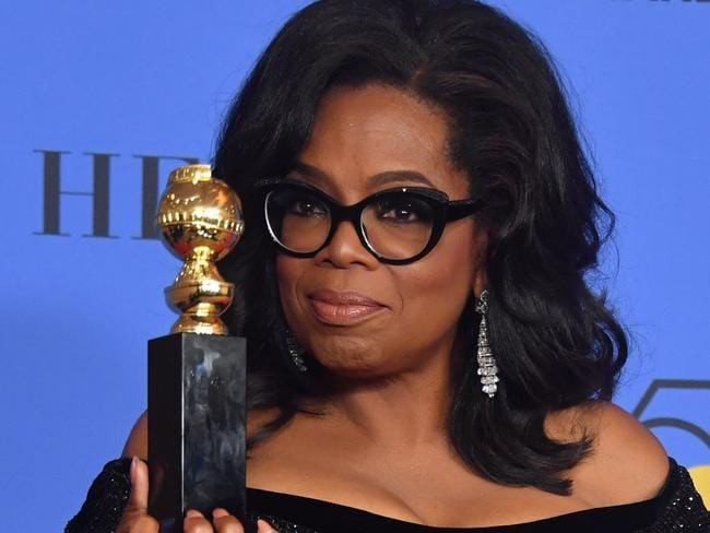 Oprah's speech proved one of the defining moments of the night. Picture: AFP PHOTO / Frederic J. BROWN.