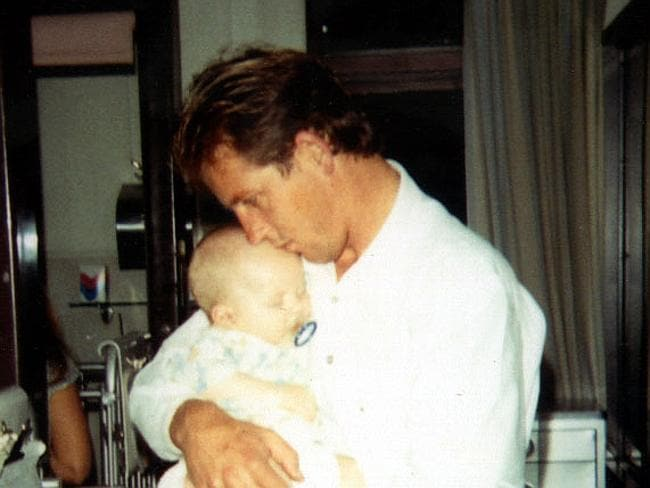 Patrick Folbigg with father Craig.