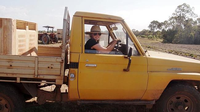 Country stint ... Madeleine Wilson on farmstay. Picture: Supplied
