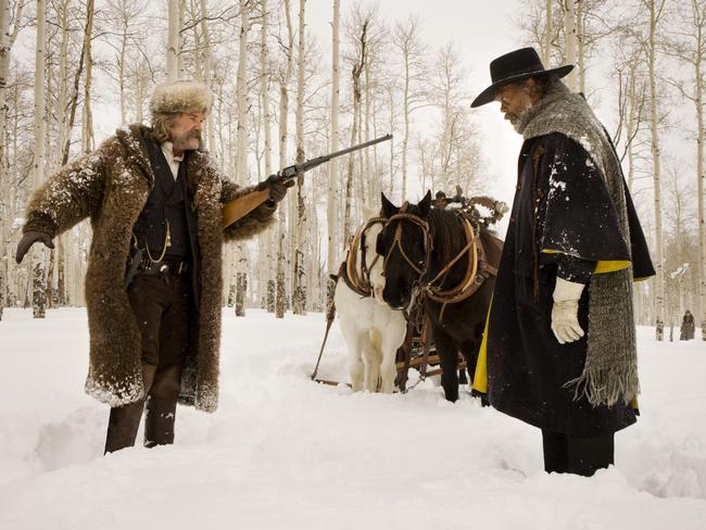 Equality ... Kurt Russell and Samuel L Jackson co-star in The Hateful Eight.