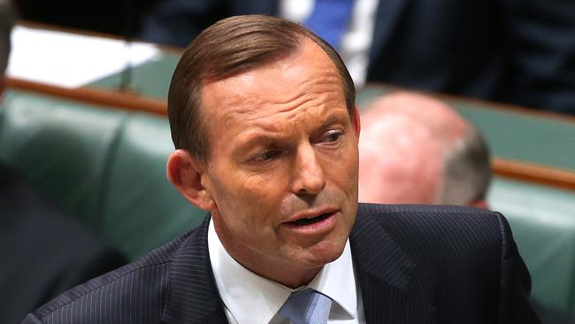 Not happy Tony ... The PM's approval rating has fallen in the latest Newspoll. Picture: Kym Smith.