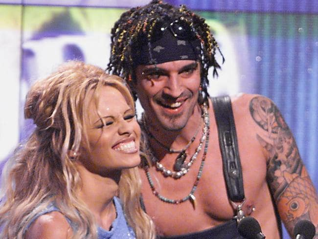 Double trouble ... Pamela Anderson and former husband Tommy Lee in 1999.