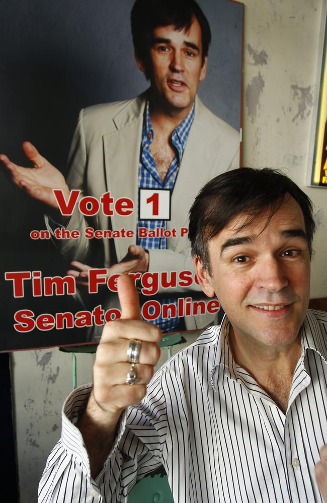 Tim Ferguson ran as a NSW Senate candidate for Senator Online in 2013.