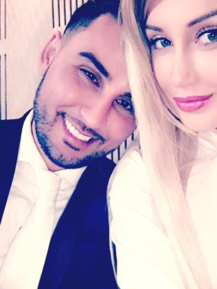 Instagram post of Salim Mehajer's with his wife Aysha Mehajer (nee, Learmonth). Picture: Instagram