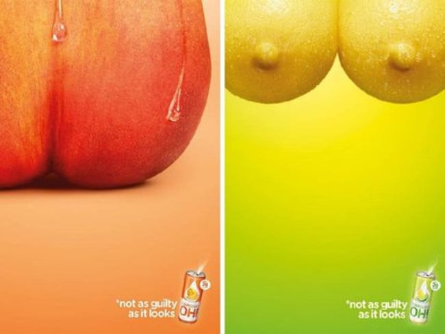 The Frucor Beverages ads in question. Picture: Frucor Beverages Australia