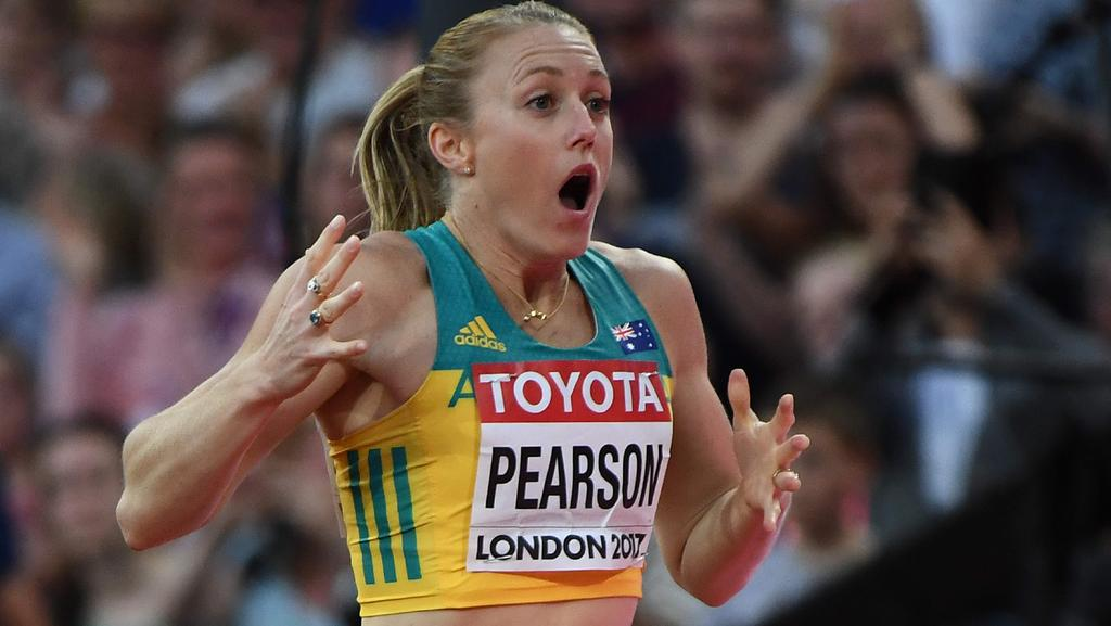 Sally Pearson can't believe she's won the world title.