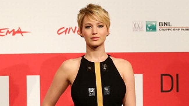 Jennifer Lawrence attends the 'The Hunger Games: Catching Fire' photocall during the 8th Rome Film Festival. Picture: Getty