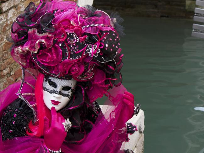 A masked participant in the Venice Carnival. Picture: ThinkStock