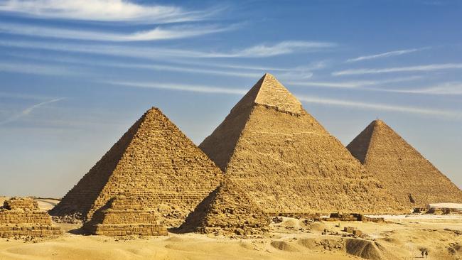 The great pharaoh Khufu began construction of the pyramid 4500 years ago.