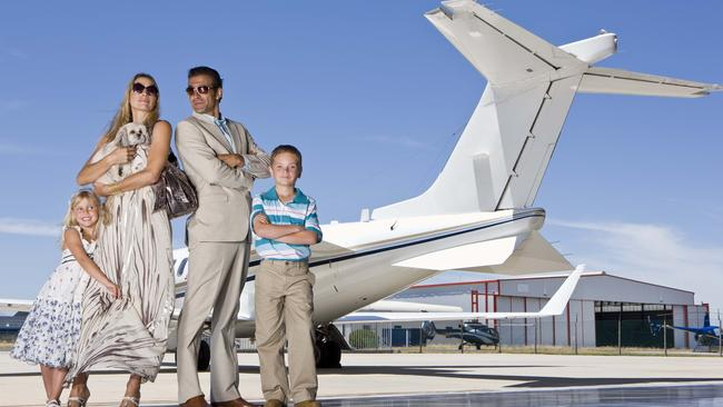 Air travel is making gains on the traditional family road trip as a way to see Australia. Picture: Thinkstock