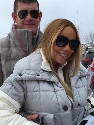 Showing their love ... Mariah Carey with James Packer. Picture: Supplied