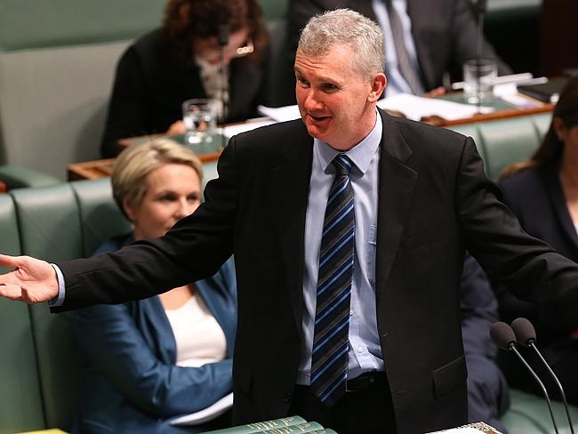 A very big deal ... Tony Burke says the Abbott government faced harsh judgment if it raised the pension age.