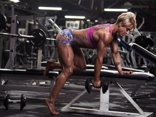 When training for competitions, Tracey Guile spends six days each week in the gym, sometimes training twice each day.