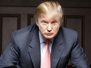 "OCTOBER 2004 : Businessman Donald Trump in scene from 2004 TV show ""The Apprentice"", 10/04."