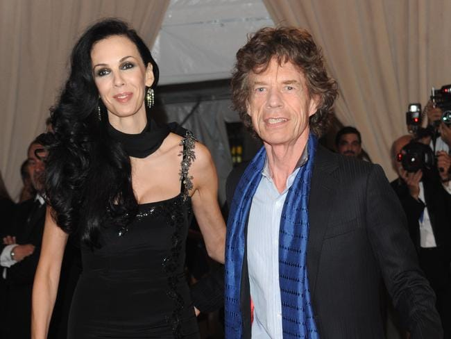 Torn apart ... Mick Jagger and L' Wren Scott arrive at the Metropolitan Museum of Art Costume Institute gala in New York in 2010. Picture: AP