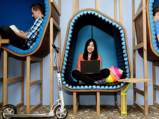 Google intern Janette Chiu at Google's Sydney office.
