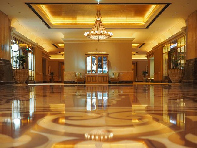 Stepping inside the lobby. Picture: Leah McLennan