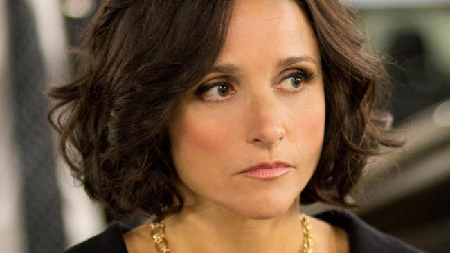 Julia Louis-Dreyfus plays the vice-president in Veep.
