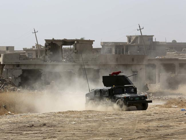 Columns of Iraqi and Kurdish forces backed by US-led air strikes have slowly advanced on Mosul from several directions. Picture: AP Photo/Khalid Mohammed.
