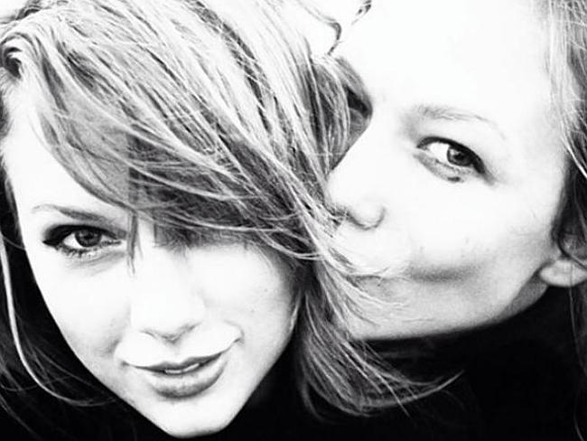 Not so Secret friends ... Taylor Swift, left, and Victoria's Secret model Karlie Kloss reportedly became friends after Swift opened one of Victoria Secret's fashion shows.