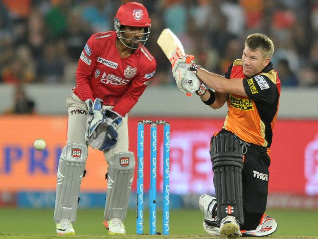 David Warner struck a controlled innings of 70 not out off 54 balls.