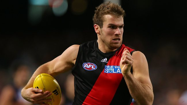 PERTH, AUSTRALIA - JUNE 27: Stewart Crameri of the Bombers runs down the wing during the round 14 AFL match between the West Coast Eagles and the Essendon Bombers at Patersons Stadium on June 27, 2013 in Perth, Australia. (Photo by Paul Kane/Getty Images)