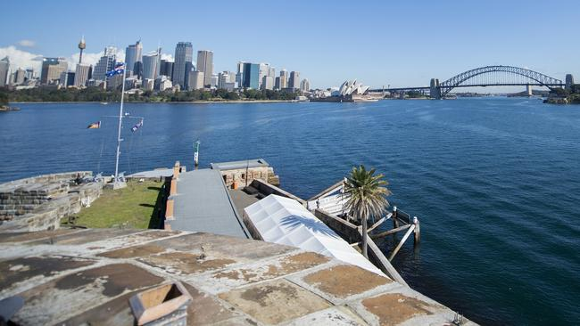 Dave Thompson of the NSW Parks and Wildlife, took visitors through a guided tour of Fort Denison, an island in Sydney Harbour.