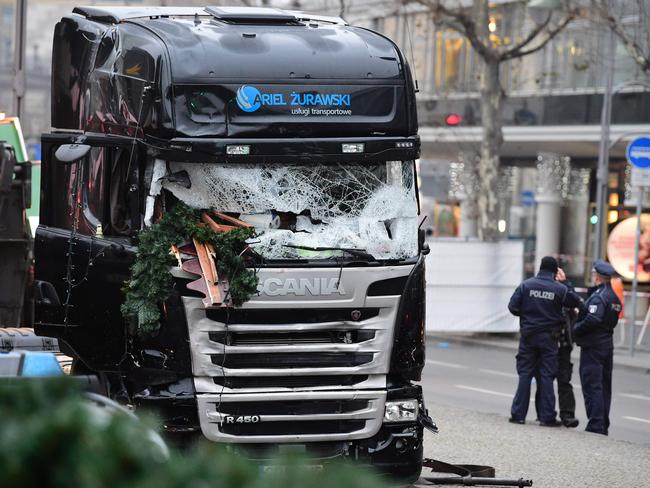 The manhunt is underway for perpetrator of the horrific Berlin truck attack. Picture: AFP