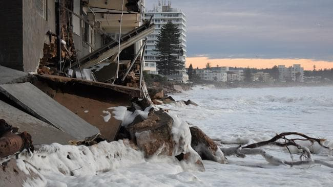 The Collaroy Beach Club was extensively damaged in the storm caused by the 'biggest king tide of the year'.