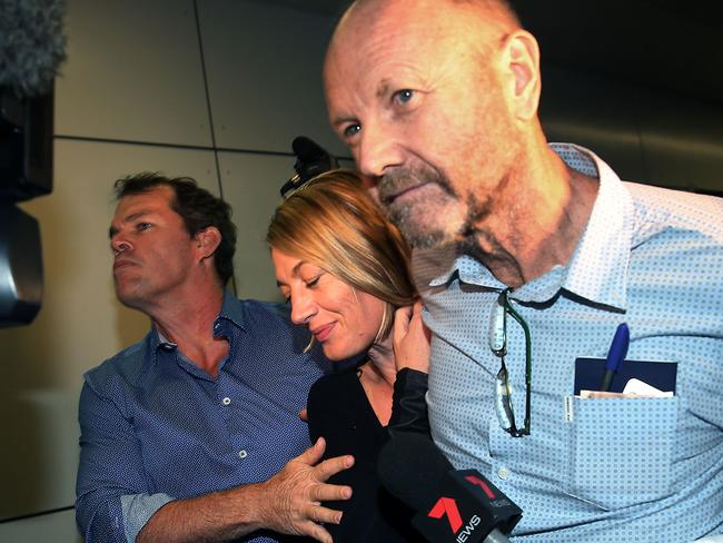 The 60 Minutes crew arrived back in Sydney last night. Picture: Jane Dempster/The Australian