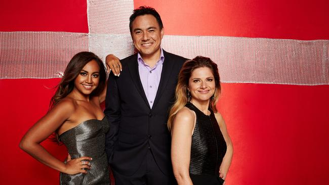Oz Delegation ... Jessica Mauboy, Sam Pang And Julia Zemiro wowed everyone at Eurovision 2014. Picture: Supplied / SBS