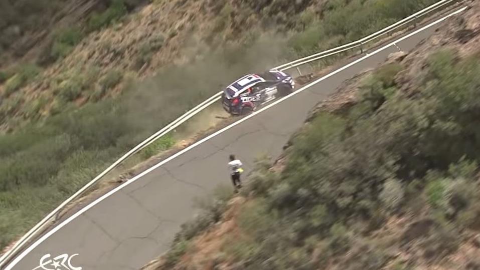 Rally Car Crash Canary Islands
