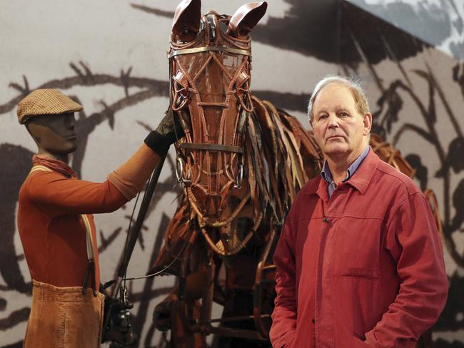Author and playwright Michael Morpurgo poses at London's V & A Museum at the opening of an exhibition of his work back in July. Picture: Jonathan Brady/PA via AP