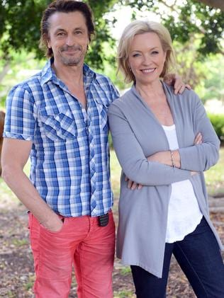 Rebecca Gibney and Peter O'Brien. Picture: Supplied.