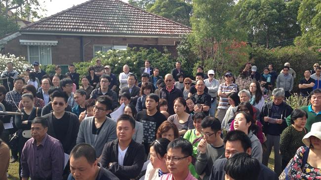 Auction fever: More than 250 people attended the auction of 13 Richards Ave, Eastwood which sold for $2.385 million.