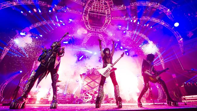 Rock legends ... Kiss are legendary for their electrifying live shows.