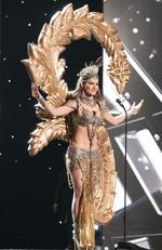 Urvashi Rautela, Miss India 2015 debuts her National Costume on stage at the 2015 Miss Universe Pagaent on December 16, 2015 in Las Vegas. Picture: HO/The Miss Universe Organization