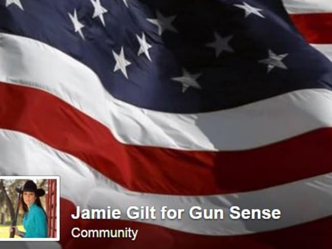 Not much sense ... Jamie Gilt for gun sense Facebook page. Picture: Facebook