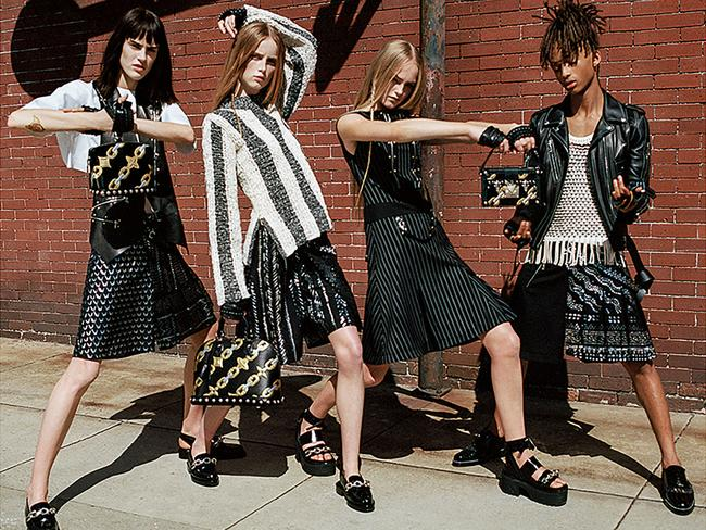 Jaden Smith wears a skirt in a new fashion campaign for Louis Vuitton.