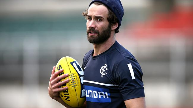 Andrew Walker returns to the Carlton line-up on Friday night. Picture: Wayne Ludbey