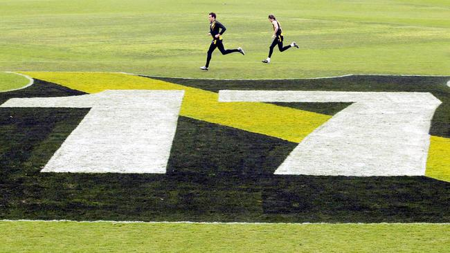 Jack Dyer's No.17 is iconic at Punt Rd.
