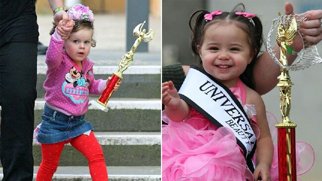 Young stars of the pageant didn't appear fazed by the controversy over the competition. Picture: Getty