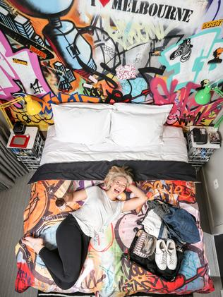 DoubleTree by Hilton Hotel Melbourne has a street art-inspired loft. Picture: Picture: Tim Carrafa