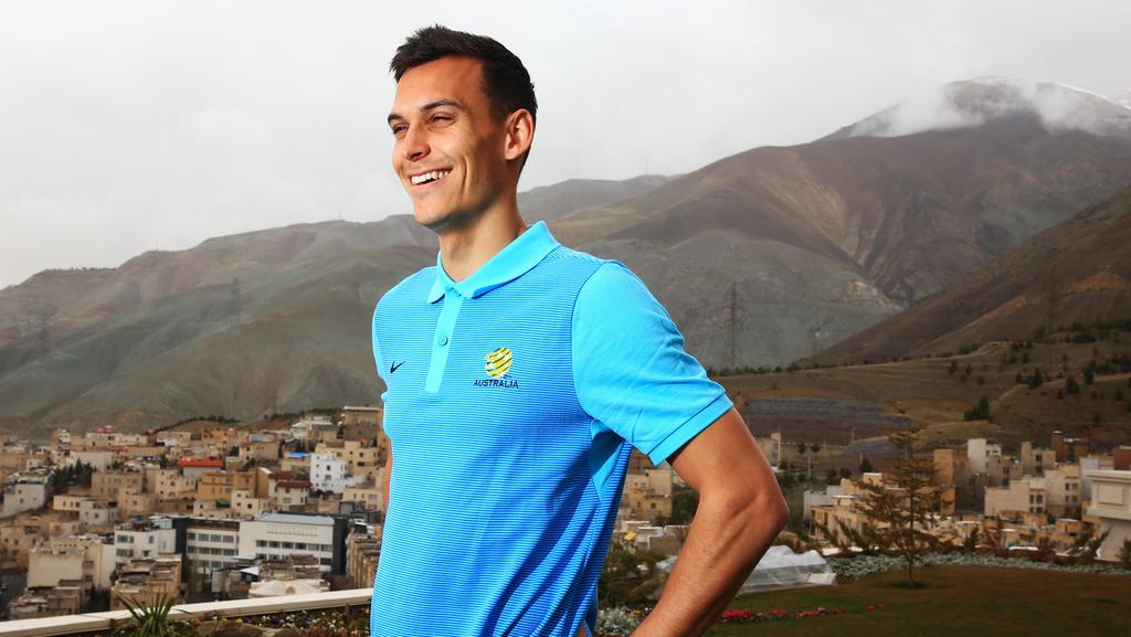 Trent Sainsbury hopes he can stay at the top of one of world football's highest mountains. Picture: Mark Evans