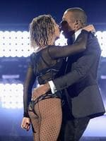 Drunk in Love: Beyonce and Jay-Z perform onstage during the 56th GRAMMY Awards at Staples Center on January 26, 2014 in Los Angeles, California. Picture: Kevin Mazur/WireImage